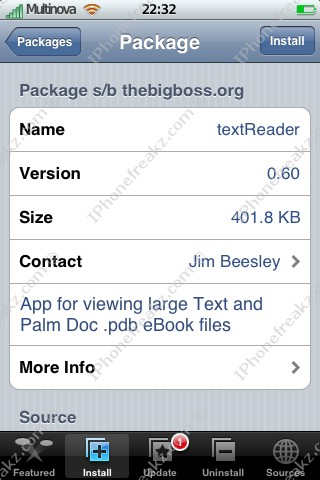 Mobile Text Reader