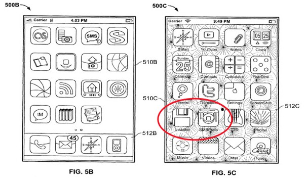 Jailbroken iPhone seen in an Apple's Patent Application!