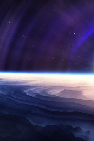 iPhone space wallpaper 17