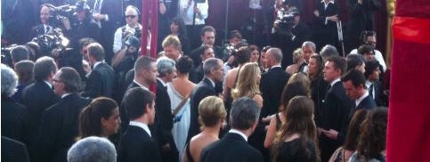 Steve Jobs at the oscars red carpet