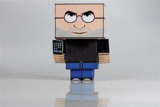 steve jobs cube paper doll