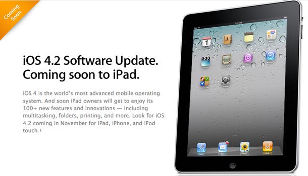 iPad-iOS-42 beta