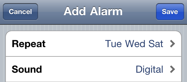 alarm iPhone