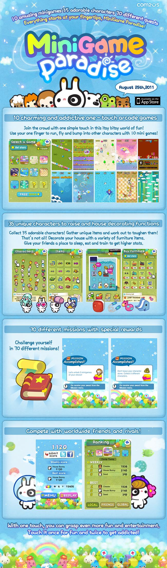 MiniGame Paradise iPhone 2