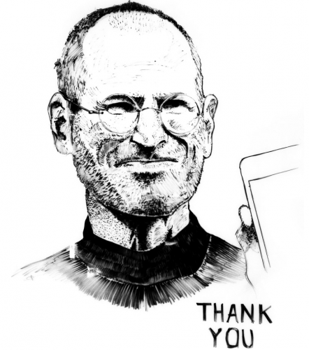 Steve Jobs Whiteboard Portrait 1