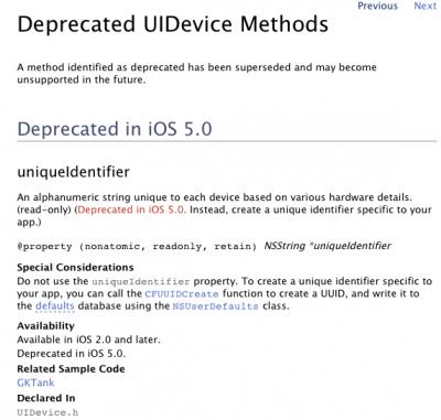UIDevice iOS 5