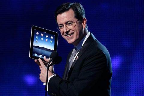 Stephen Colbert Honors Steve Jobs