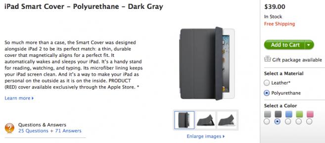 iPad Smart Cover Polyurethane Dark Gray