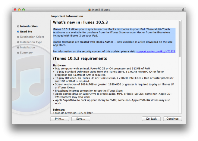 iTunes 10.5.3