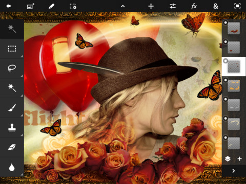 Adobe Photoshop Touch iPad 2