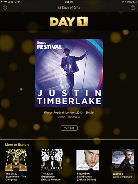 12 days of gifts justin timberlake
