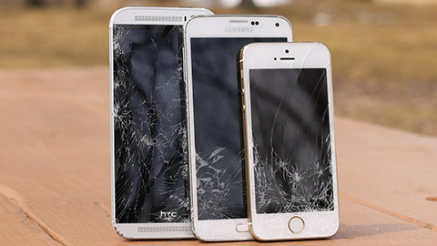iPhone-5S,Galaxy-S5,HTC-One-M8-drop-test